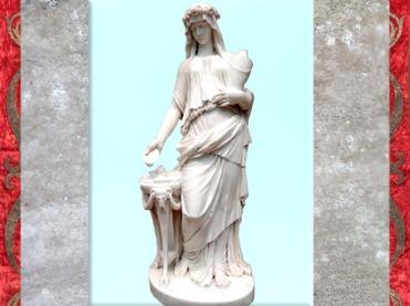 D'après une Vestale, de Claude Michel dit Clodion, marbre, 1770, XVIIIe siècle, France, style Néoclassique. (Marsailly/Blogostelle)