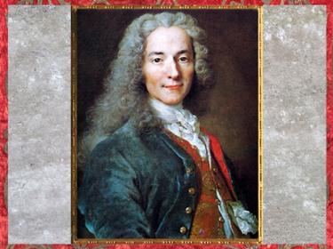 D'après François Marie Arouet dit Voltaire, à 24 ans, écrivain et philosophe, détail, de Nicolas de Largillière, 1718, Château de Versailles, France, XVIIIe siècle. (Marsailly/Blogostelle)