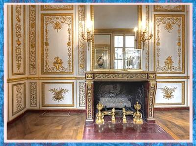 D'après les appartements de Louis XVI, château de Versailles, France, XVIIIe siècle, style Rocaille. (Marsailly/Blogostelle)