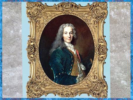D'après François Marie Arouet dit Voltaire, à 24 ans, écrivain et philosophe, de Nicolas de Largillière, 1718, Château de Versailles, France, XVIIIe siècle. (Marsailly/Blogostelle)