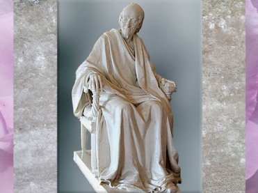 D'après Voltaire âgé, de Jean-Antoine Houdon, statue en marbre, 1781, France, XVIIIe siècle. (Marsailly/Blogostelle)