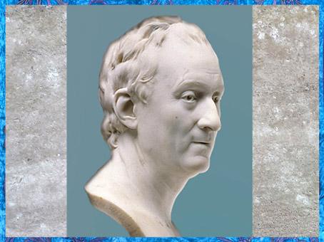 D'après Denis Diderot, de Jean Antoine Houdon, marbre, 1773, Paris, XVIIIe siècle. (Marsailly/Blogostelle)