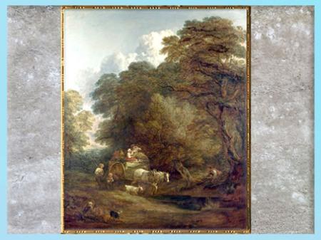 D'après Le Chariot du Marché, du peintre Thomas Gainsborough, 1786, Angleterre, XVIIIe siècle. (Marsailly/Blogostelle)