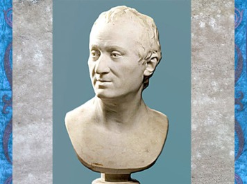D'après Denis Diderot, de Jean Antoine Houdon, marbre, daté 1775, selon le buste en terre cuite du Salon de 1771, France, XVIIIe siècle. (Marsailly/Blogostelle)