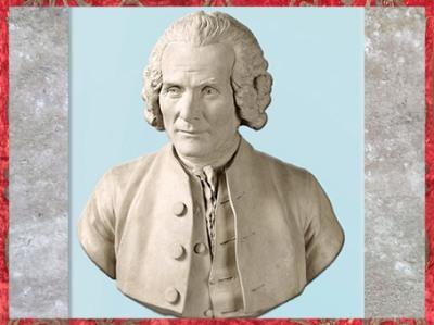 D'après Jean-Jacques Rousseau, de Jean-Antoine Houdon, vers 1779, terre cuite, XVIIIe siècle, Néoclassique, France. (Marsailly/Blogostelle)
