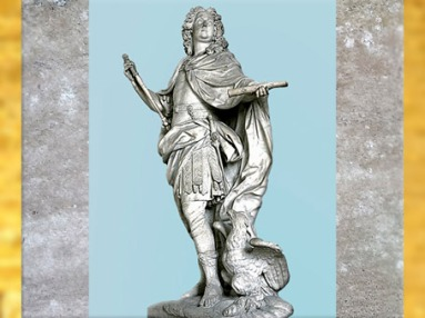 D'après Louis XV en Jupiter, marbre, du sculpteur Nicolas Coustou, 1731, France, XVIIIe siècle, France. (Marsailly/Blogostelle)