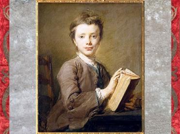 D'après le Jeune Garçon avec un livre, frère cadet de l'artiste, de Jean-Baptiste Perronneau, 1740, huile sur toile, France, XVIIIe siècle. (Marsailly/Blogostelle)