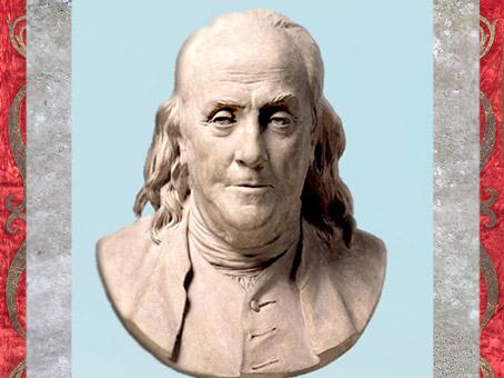 D'après Benjamin Franklin, de Jean-Antoine Houdon, 1778, buste en terre cuite, France, XVIIIe siècle. (Marsailly/Blogostelle)