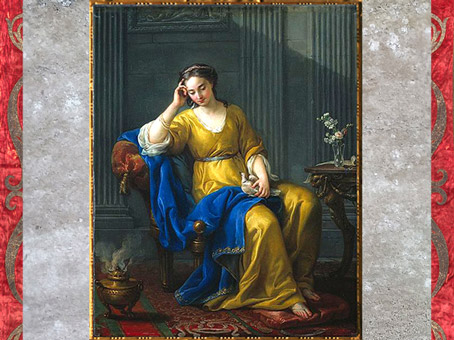 La Douce Mélancolie, de Joseph-Marie Vien, 1756, huile sur toile, France, XVIIIe siècle, style Néoclassique. (Marsailly/Blogostelle)