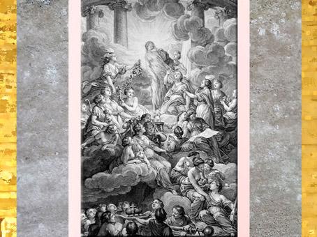 D'après le Frontispice de l'Encyclopédie, dessin Charles-Nicolas Cochin, Salon 1765, graveur Bonaventure-Louis Prévost, XVIIIe siècle. (Marsailly/Blogostelle)