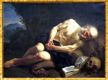 D'après L'Anachorète endormi, de Joseph-Marie Vien, 1751, huile sur toile, France, XVIIIe siècle. (Marsailly/Blogostelle)