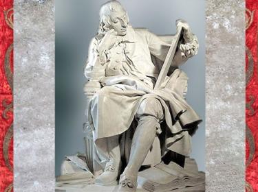 D'après le mathématicien philosophe Blaise Pascal, d'Augustin Pajou, marbre, Salon de 1785, série des Grands Hommes de la France, XVIIIe siècle. (Marsailly/Blogostelle)