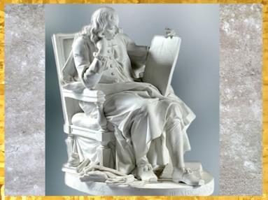 D'après Blaise Pascal, biscuit de porcelaine, selon le marbre d'Augustin Pajou du Salon de 1779, série des Grands Hommes de la France, manufacture de Sèvres, XVIIIe siècle. (Marsailly/Blogostelle)