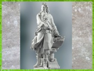 D'après Vauban (Sébastien Le Prestre de), biscuit de porcelaine, modèle en plâtre de Charles-Antoine Bridan, 1783, série des Grands Hommes de la France, manufacture de Sèvres, XVIIIe siècle.(Marsailly/Blogostelle)