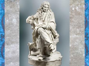 D'après Jean de La Fontaine, de Pierre Julien, 1785, marbre, série des Grands Hommes de la France, XVIIIe siècle, période Néoclassique. (Marsailly/Blogostelle)
