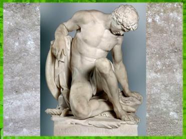 D'après Le gladiateur mourant, de Pierre Julien, marbre, 1779, XVIIIe siècle, style Néoclassique. (Marsailly/Blogostelle)