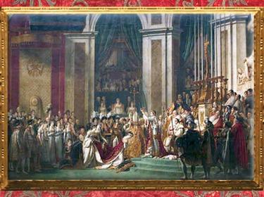 D'après Le Sacre de Napoléon et Joséphine, de Jacques Louis David, 1806 - 1807, huile sur toile, France, XVIIIe siècle, Néoclassique. (Marsailly/Blogostelle)