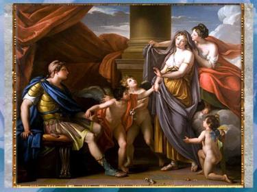 D'après Vénus présentant Hélène à Pâris, de Gavin Hamilton, vers 1777-1780, huile sur toile, XVIIIe siècle, Néoclassique. (Marsailly/Blogostelle)