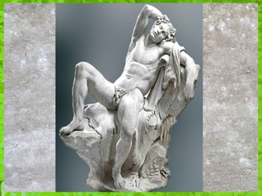 D'après le Faune Barberini, d'Edme Bouchardon, selon le modèle antique, marbre, 1730, XVIIIe siècle, France, style Néoclassique. (Marsailly/Blogostelle)
