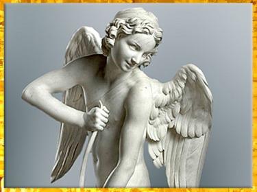 D'après L'Amour se faisant un arc dans la massue d'Hercule, d'Edme Bouchardon, marbre,1750, XVIIIe siècle, France, style Néoclassique. (Marsailly/Blogostelle)