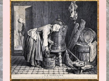 D'après La Fontaine, de Charles-Nicolas Cochin, 1739, Eau-forte d'après Jean Siméon, gravure, XVIIIIe siècle France, XVIIIe siècle, période Néoclassique. (Marsailly/Blogostelle)
