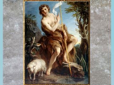 D'après Saint Jean-Baptiste, de François Lemoine, 1726, huile sur toile, pour Monsieur de Morville, église Saint-Eustache, Paris, France, XVIIIe siècle. (Marsailly/Blogostelle)