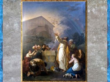 D'après Le Sacrifice de Noé, de Jean-Hugues Taraval, 1783, huile sur toile, direction des Bâtiments du Roi, église Sainte-Croix-des-Arméniens, Paris, France, XVIIIe siècle. (Marsailly/Blogostelle)