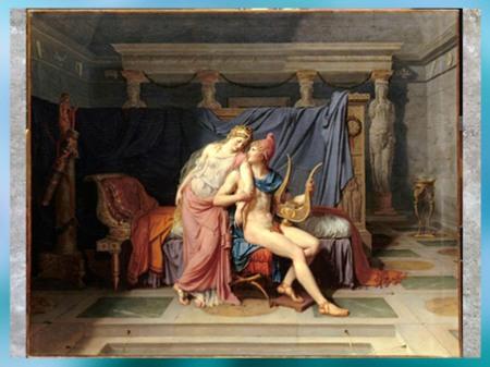 D'après Les Amours de Paris et Hélène, de Jacques-Louis David, 1788, huile sur toile, France, XVIIIe siècle, Néoclassique. (Marsailly/Blogostelle)