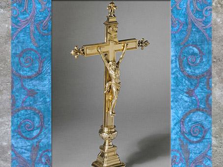 D'après le crucifix, chapelle du duc de Bourgogne, argent doré, de François-Thomas Germain, 1757 - 1758, France, XVIIIe siècle. (Marsailly/Blogostelle)