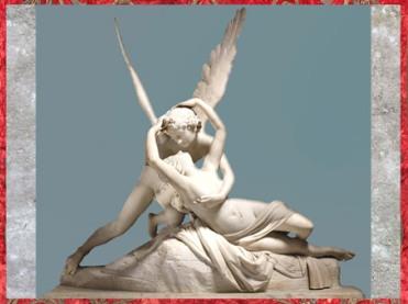 D'après Psyché ranimée par le baiser de Éros, du sculpteur Antonio Canova, 1793, marbre, XVIIIe siècle, Néoclassique. (Marsailly/Blogostelle)