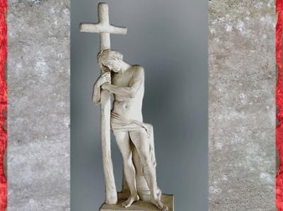 D'après Jésus-Christ appuyé sur la Croix, d'Edme Bouchardon, marbre, 1745, style néoclassique, France, XVIIIe siècle. (Marsailly/Blogostelle)