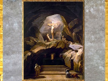 D'après La Chapelle du Calvaire, de Nicolas-Bernard Lépicié, 1765, huile sur toile, église Saint-Roch, Paris, France, XVIIIe siècle. (Marsailly/Blogostelle)