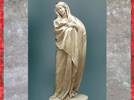 D'après la Vierge de douleur, d'Edme Bouchardon, chœur de l'Église Saint-Sulpice, Paris, France, XVIIIe siècle, Néoclassique. (Marsailly/Blogostelle)