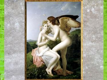D'après Psyché et Éros, François Gérard, 1798, France, XVIIIe siècle, Néoclassique. (Marsailly/Blogostelle)