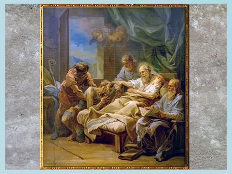 D'après saint Augustin, Van Loo, esquisse, vers 1754, huile sur toile, Paris, XVIIIe siècle. (Marsailly/Blogostelle)
