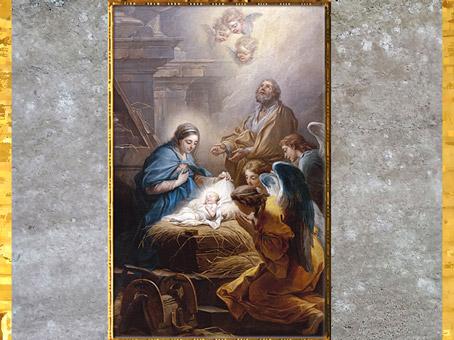 D'après L'adoration des anges ou La Nativité, de Carle Van Loo, 1751, huile sur toile, église Saint-Sulpice, Paris, France, XVIIIe siècle. (Marsailly/Blogostelle)