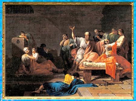 D'après La Mort de Socrate, de Jean François Pierre Peyron, vers 1787, XVIIIe siècle, Néoclassique. (Marsailly/Blogostelle)