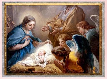 D'après L'adoration des anges ou La Nativité, de Carle Van Loo, détail, 1751, huile sur toile, église Saint-Sulpice, Paris, France, XVIIIe siècle. (Marsailly/Blogostelle)