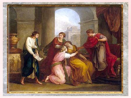 D'après Virgile lisant l'Énéide devant Auguste et Octavia, d'Angelika Kauffmann, 1788, XVIIIe siècle, Néoclassique. (Marsailly/Blogostelle)