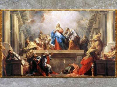 D'après La Pentecôte, de Jean Restout, 1732, pour le réfectoire de l'abbaye de Saint-Denis, Paris, France, XVIIIe siècle. (Marsailly/Blogostelle)
