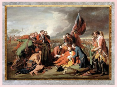 D'après La Mort du général Wolfe, de Benjamin West, 1770, huile sur toile, XVIIIe siècle, Néoclassique. (Marsailly/Blogostelle)