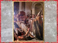D'après Les funérailles de Sainte Marthe, Joseph-Marie Vien, collégiale Sainte Marthe, Tarascon, France, XVIIIe siècle. (Marsailly/Blogostelle)