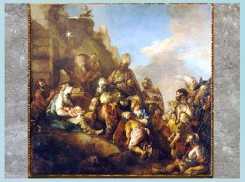 D'après la Nativité et l'Adoration des Mages de Charles de la Fosse, 1715, pour la cathédrale Notre-Dame de Paris, France, XVIIIe siècle. (Marsailly/Blogostelle)