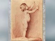 D'après un Enfant nu tenant une faucille, Edme Bouchardon, acquis pour le cabinet du roi en 1775-1776, collection Mariette au XVIIIe siècle. (Marsailly/Blogostelle)