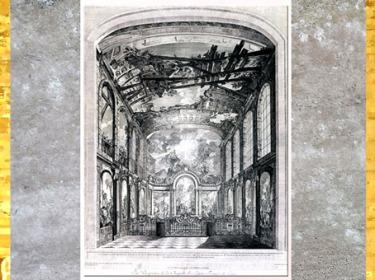 D'après le décor de la Chapelle des Enfants trouvé, Charles-Joseph Natoire, vers 1752-1759, gravure Etienne Fessard Paris, France, XVIIIe siècle (Marsailly/Blogostelle)