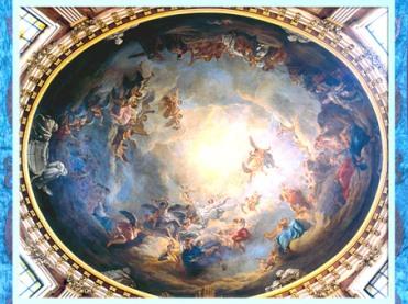 D'après L'Assomption, coupole de la chapelle de la Vierge, de Jean-Baptiste Pierre, 1756, l'église Saint-Roch, France, XVIIIe siècle. (Marsailly/Blogostelle)