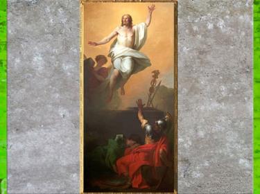 D'après La Résurrection du Christ, de Pierre Peyron, 1784, huile sur toile, église Saint-Louis-en-L'Île, Paris, France, XVIIIe siècle. (Marsailly/Blogostelle)