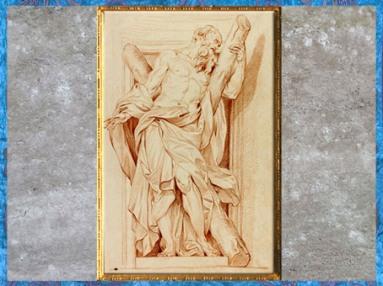 D'après saint André, d'Edme Bouchardon, selon Camillo Rusconi, sanguine, France, XVIIIe siècle, Néoclassique. (Marsailly/Blogostelle)
