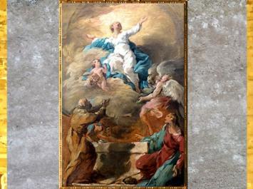D'après L'Assomption de la Vierge, de Noël Hallé, 1750, esquisse, huile sur toile, France, XVIIIe siècle. (Marsailly/Blogostelle)