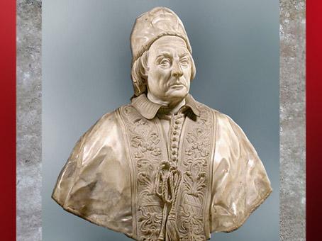 D'après Le pape Clément XII Corsini, d'Edme Bouchardon, 1731, marbre, Palazzo Corsini, Florence, XVIIIe siècle, Néoclassique. (Marsailly/Blogostelle)